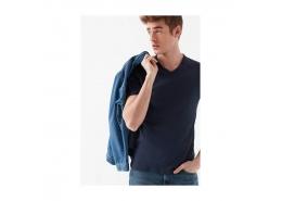 V Yaka Erkek Siyah Basic Tişört (061313-902)