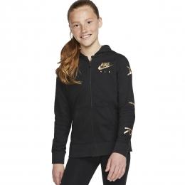 Air Sportswear Fleece Çocuk Siyah Sweatshirt (BV2757-010)