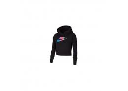 Nike Sportswear Kız Çocuk Kısa Siyah Sweatshirt