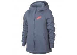 Nike Sportwear Kadın Mavi Kapüşonlu Sweatshirt