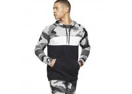 Dri-Fit Fleece Camouflage Erkek Gri Sweatshirt