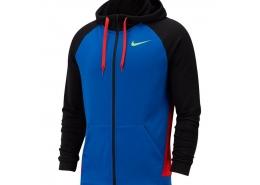 Nike Dri-Fit Fleece Erkek Mavi Sweatshirt