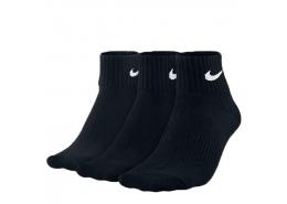 Lightweight Quarter 3'lü Kısa Siyah Spor Çorap