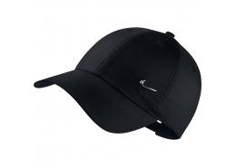 H86 Metal Swoosh Siyah Spor Şapka (943092-010)