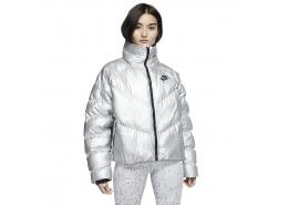 Sportswear Shine Synthetic-Fill Kadın Gri Mont
