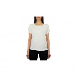 Bisiklet Yaka Kadın Beyaz Günlük Tişört (15106662-White)