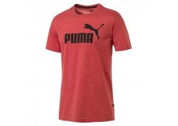 Puma Essentials+ Heather Erkek Kırmızı Tişört