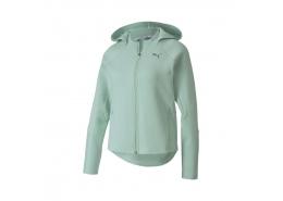 Evostripe Kadın Yeşil Fermuarlı Sweatshirt