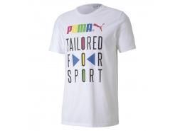 Puma Tailored For Sport Erkek Beyaz Tişört