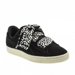 Suede Heart Athluxe Siyah Çocuk Spor Ayakkabısı