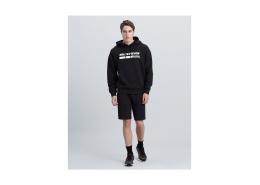 Lightweight Fleece Rawedge Basic Erkek Siyah Şort (S201013-001)