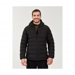 Outerwear Contrast Pocket Erkek Siyah Mont (S202046-001)
