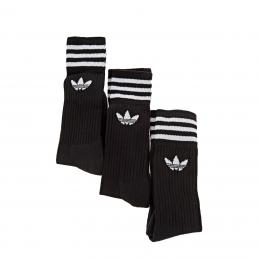 Crew 3 Çift Siyah Spor Çorap (S21490)