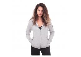 Essential Solid Kadın Gri Fermuarlı Sweatshirt