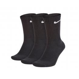 Everyday Cushioned Siyah 3'lü Spor Çorap (SX7664-010)