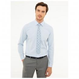 Erkek Klasik Mavi Gömlek (000-652419-VR036)