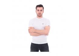 Left Chest Logo Erkek Beyaz Tişört (VN0A3CZEYB21)