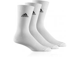 Crew Plain T Unisex Beyaz 3'lü Spor Çorap