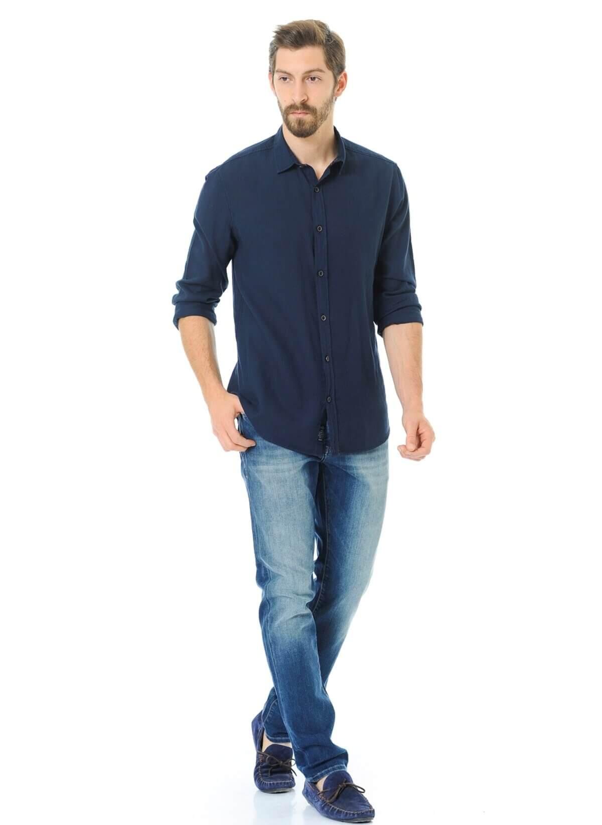 Jake Erkek Mavi Kot Pantolon