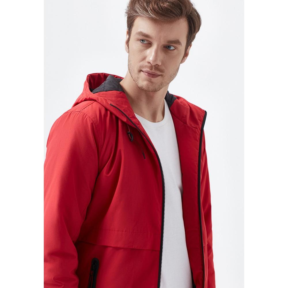 Mavi Jeans Kapüşonlu Erkek Kırmızı Mont