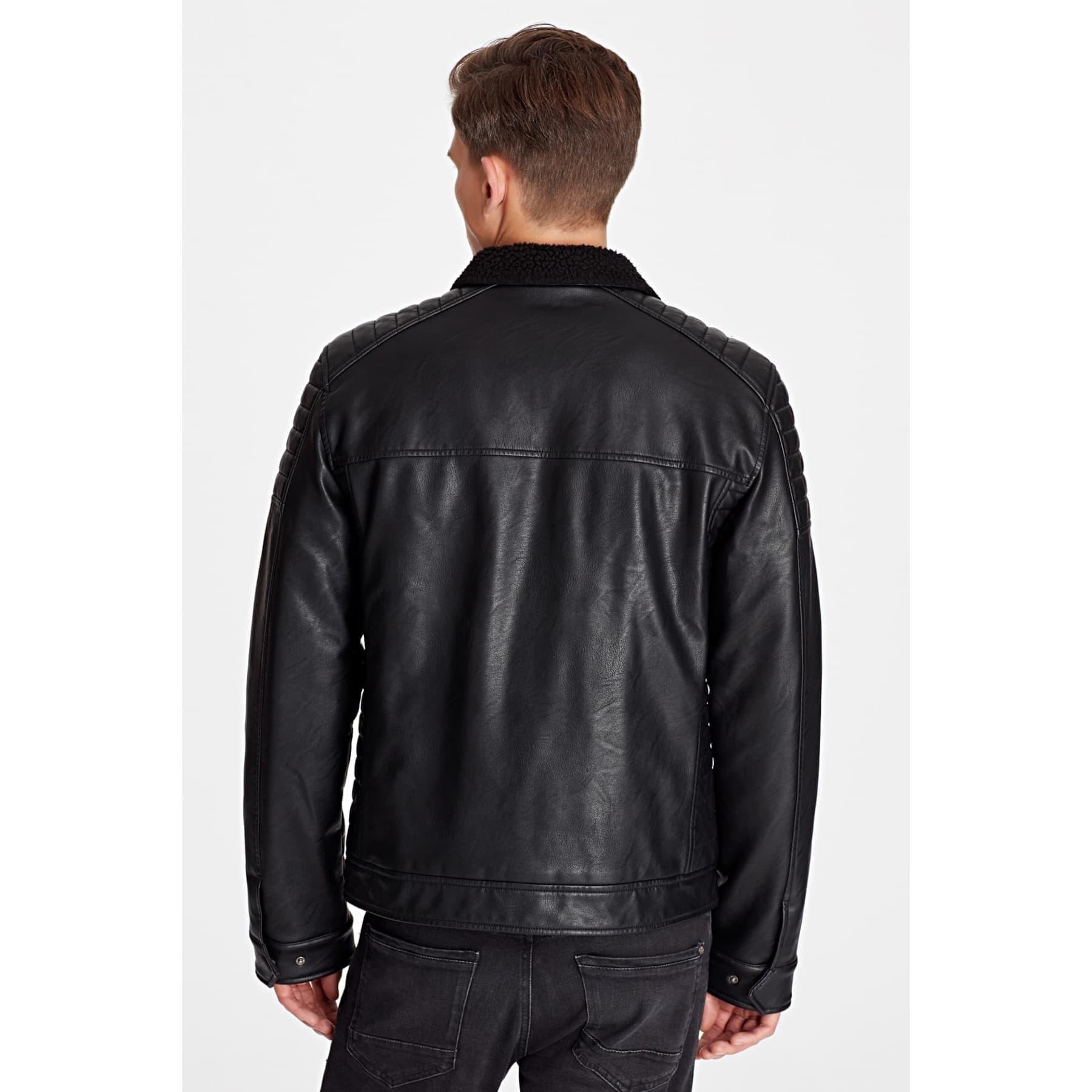 Mavi Jeans Siyah Suni Deri Erkek Ceket