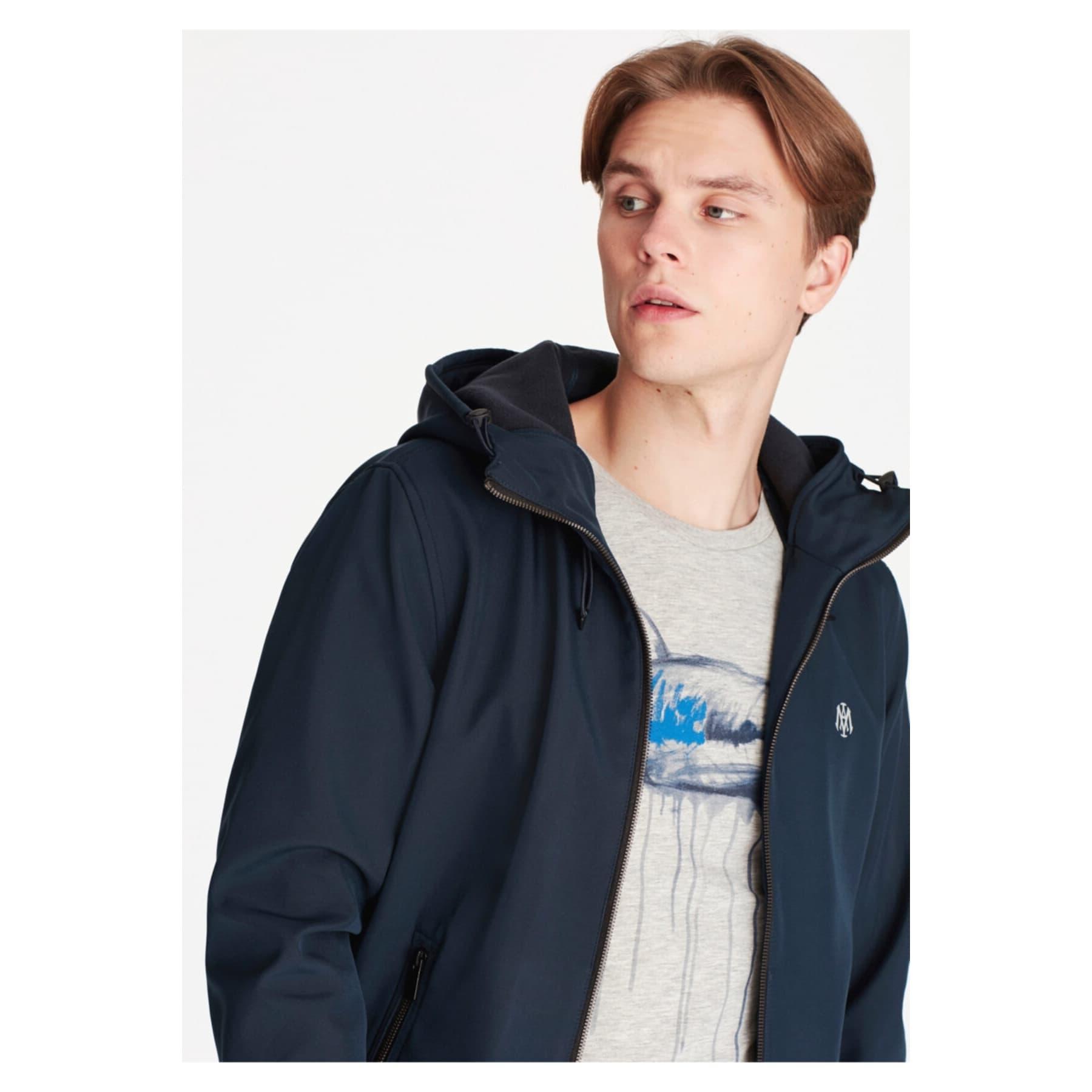 Kapüşonlu Erkek Mavi Ceket (010247-30647