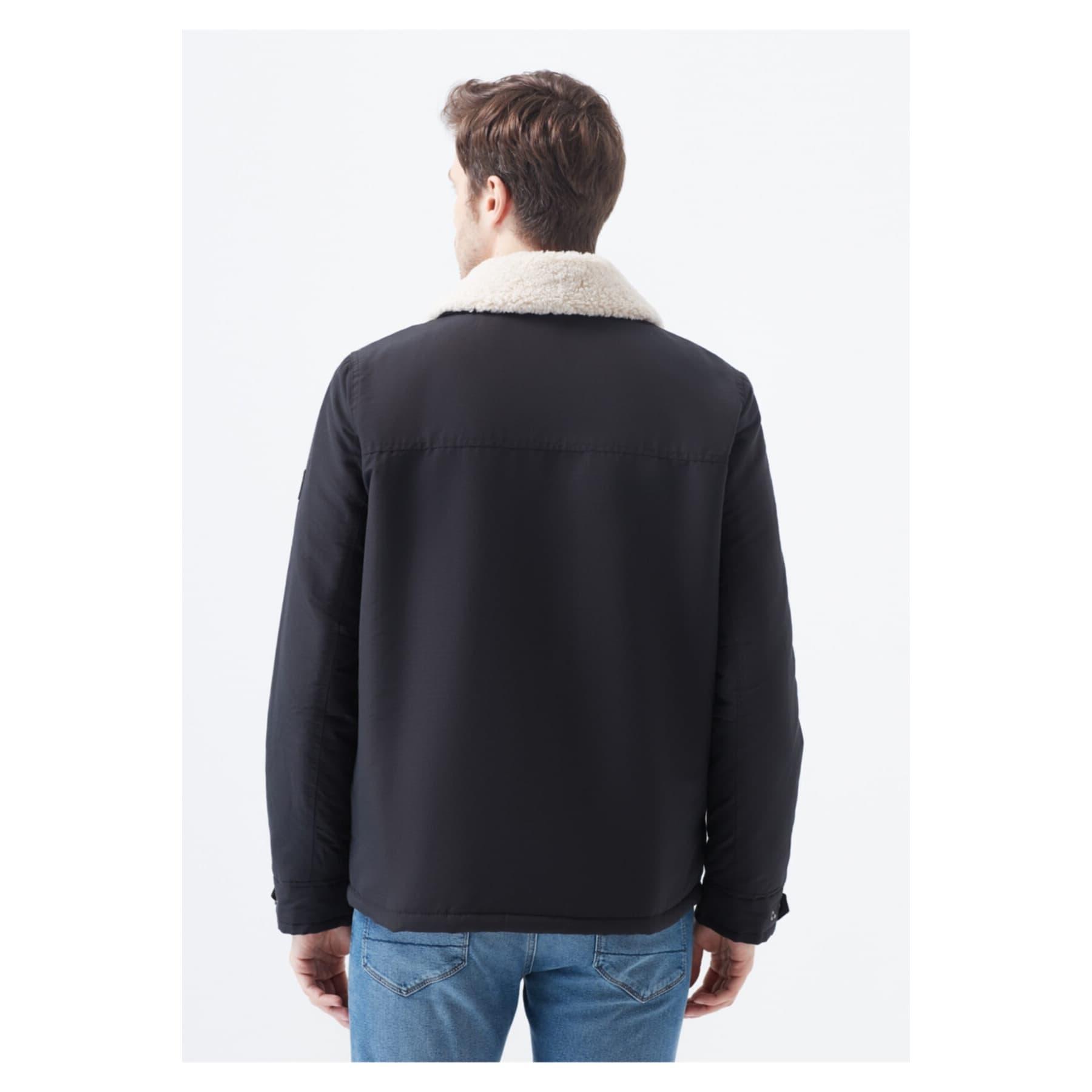 Mavi Jeans Kürk Yakalı Siyah Erkek Mont