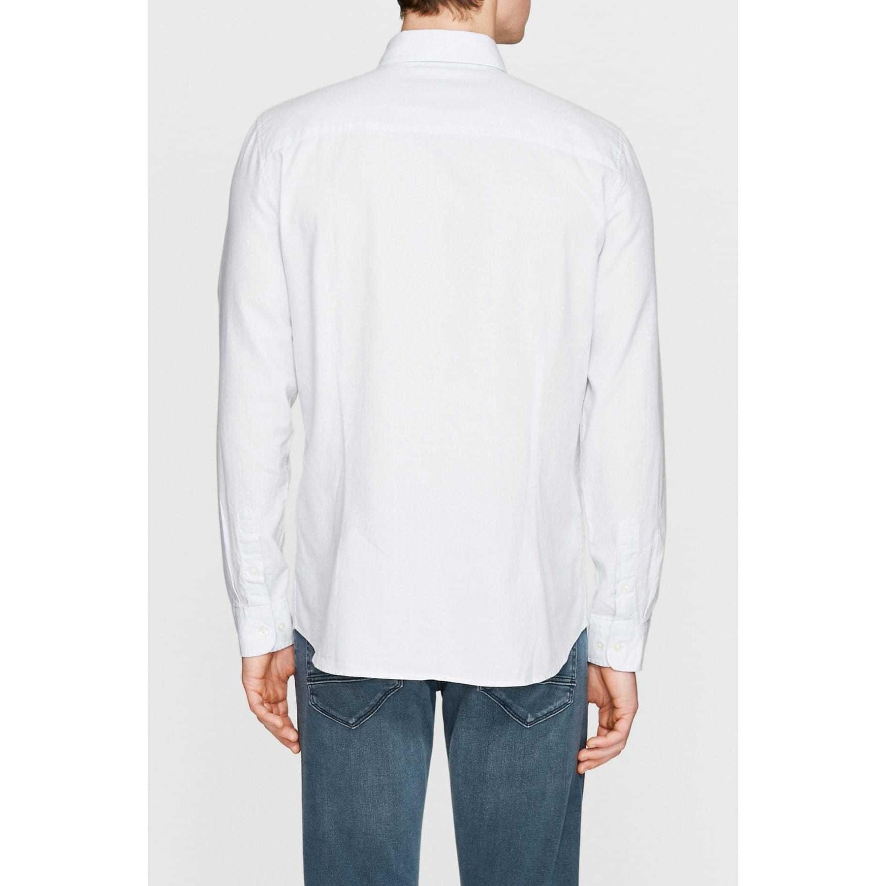 Erkek Cepsiz Soft Mavi Oxford Gömlek