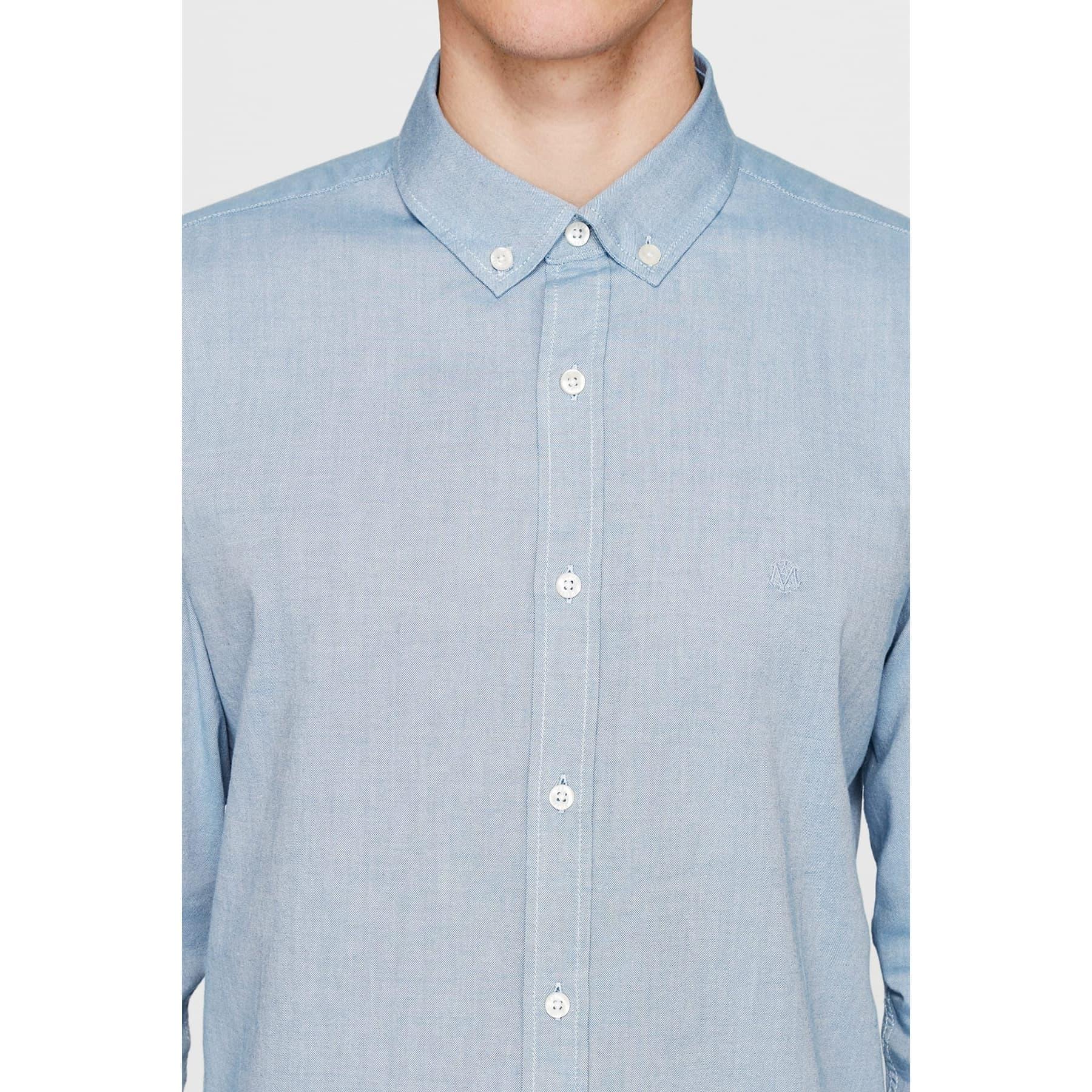 Erkek Cepsiz Uzay Mavisi Oxford Gömlek