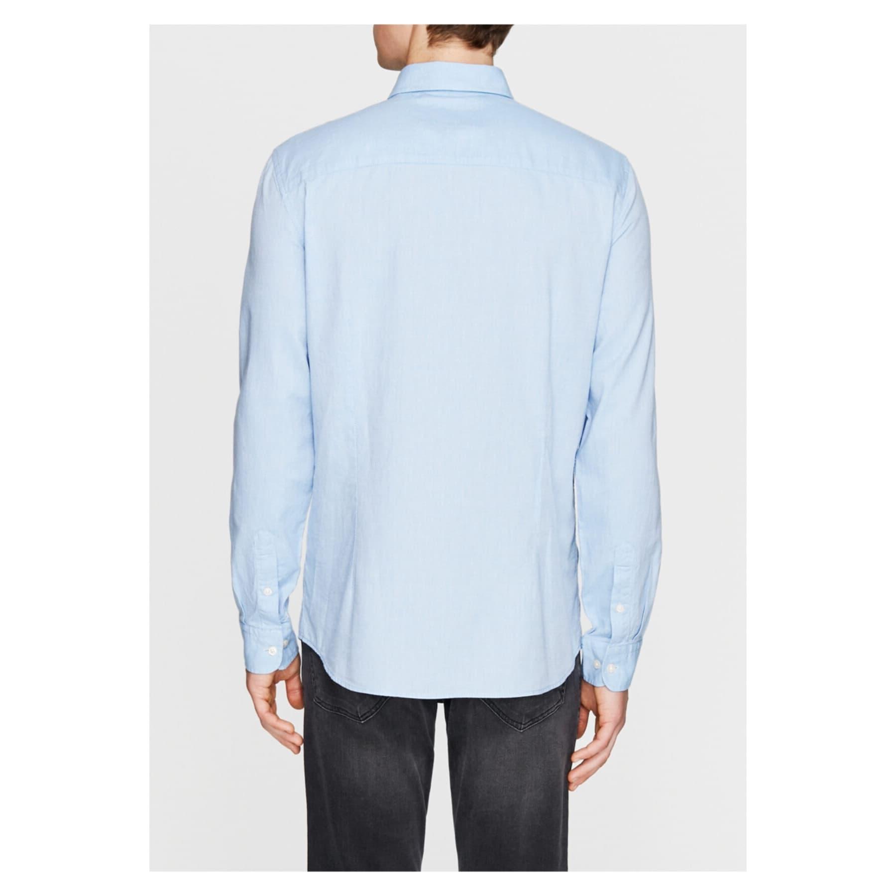 Erkek Cepsiz Mavi Oxford Gömlek