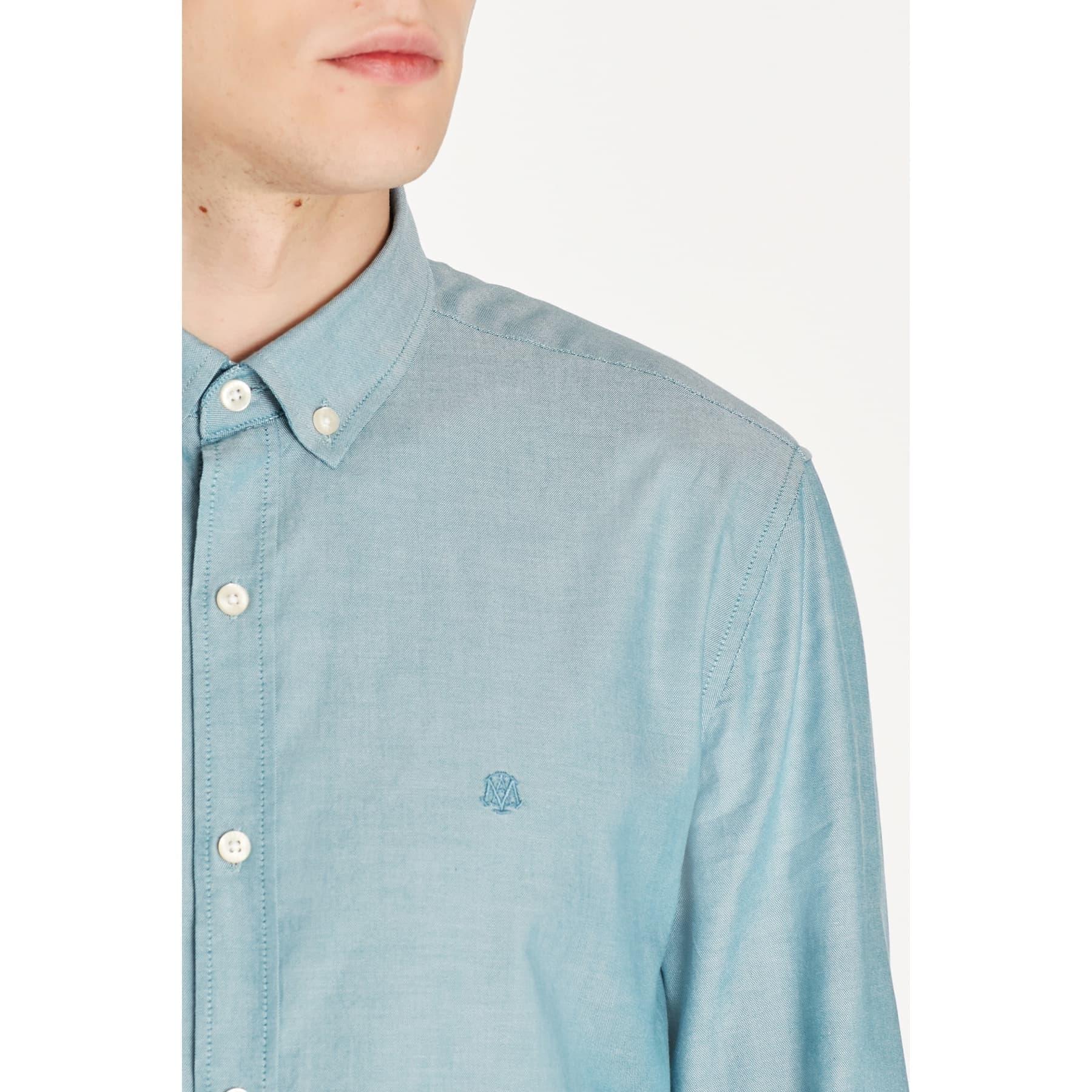Erkek Cepsiz Yeşil Oxford Gömlek (%100 Pamuk)