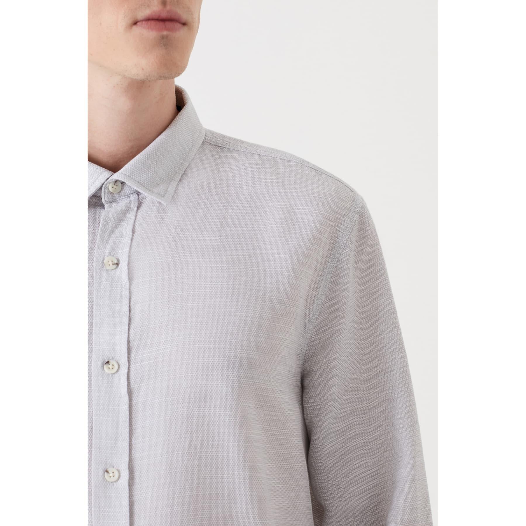 Uzun Kol Gömlek Açık Gri