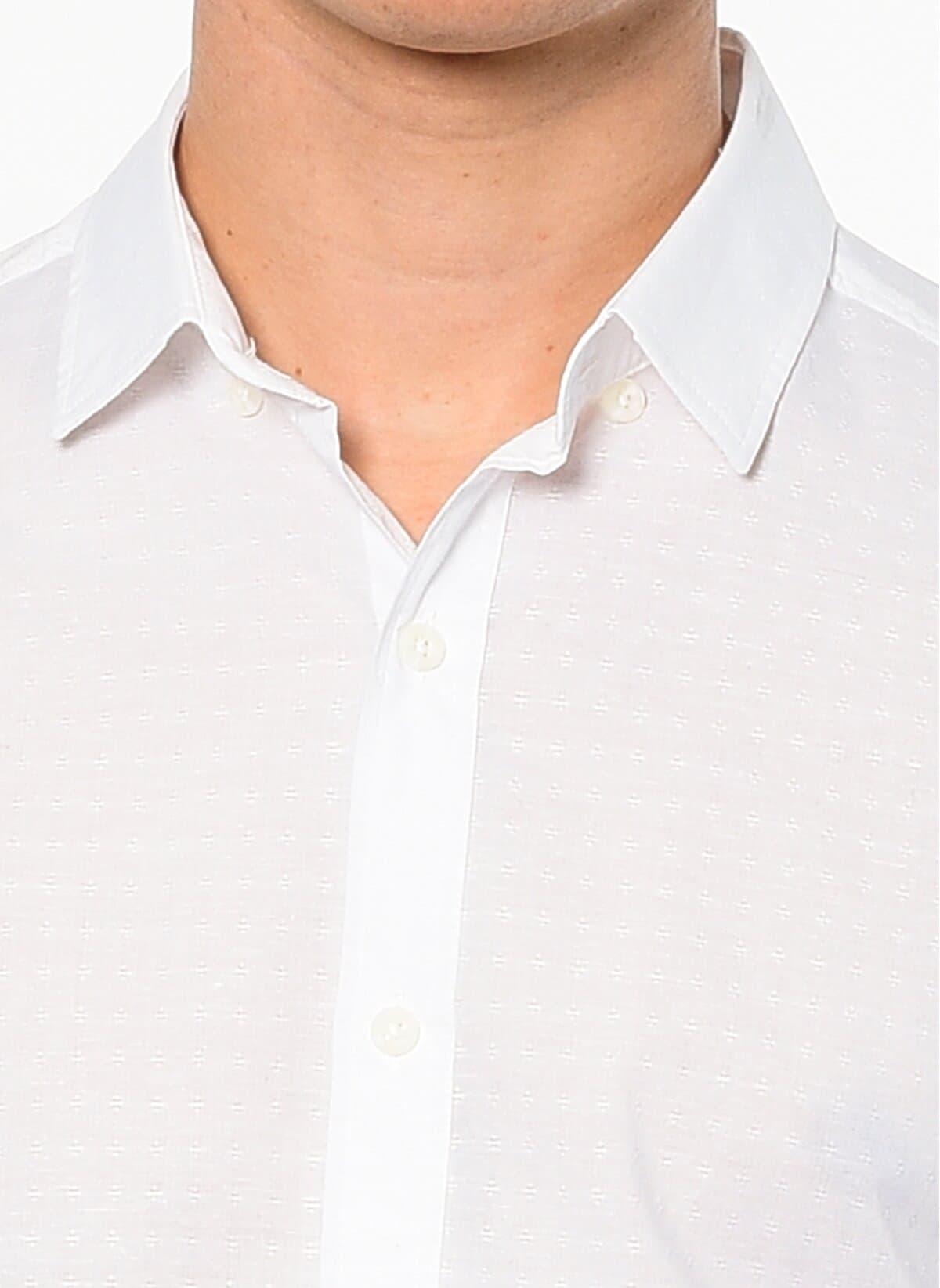 Mavi Jeans Uzun Kollu Kırık Beyaz Erkek Gömlek