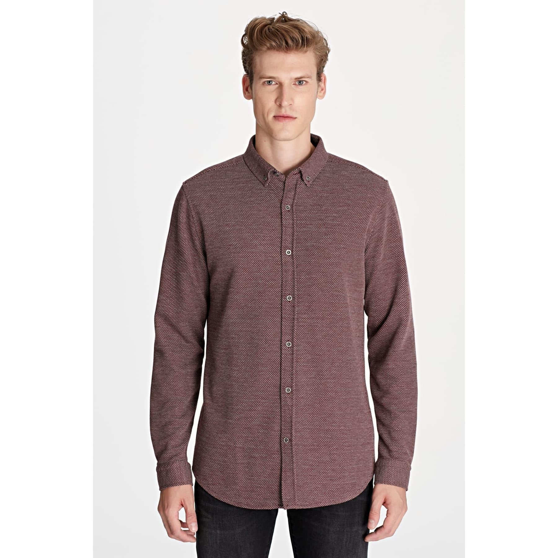 Uzun Kol Gömlek Kış Bordosu
