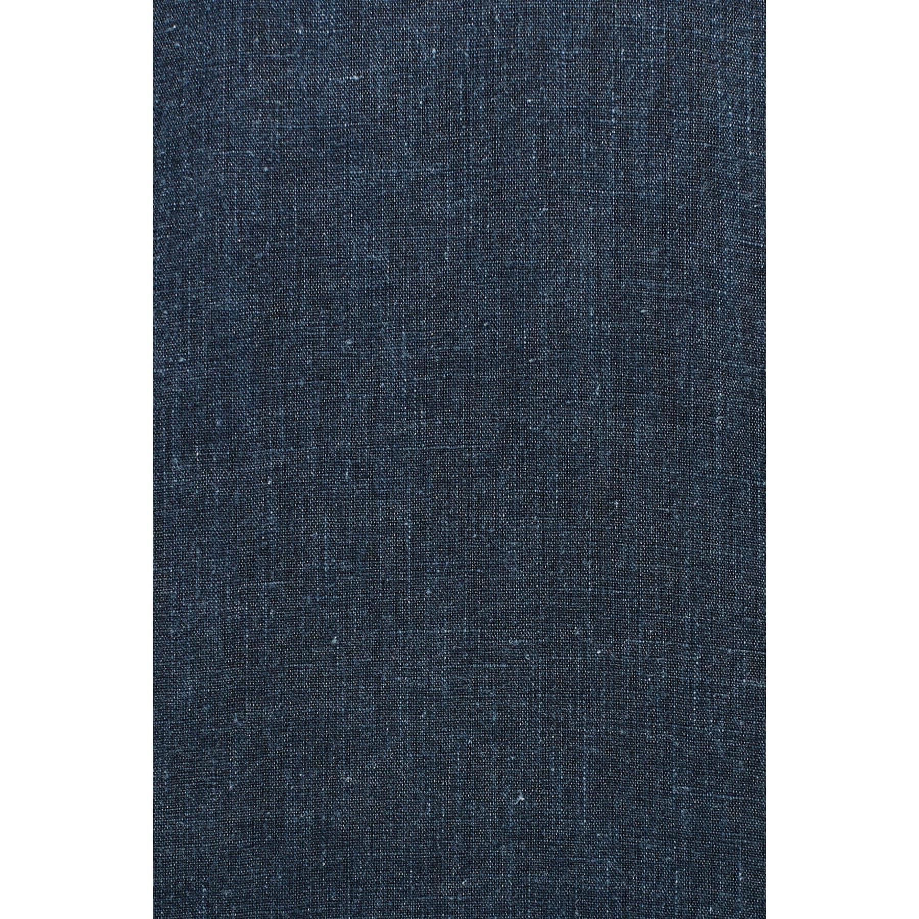 Çift Cepli Keten Erkek Mavi Gömlek