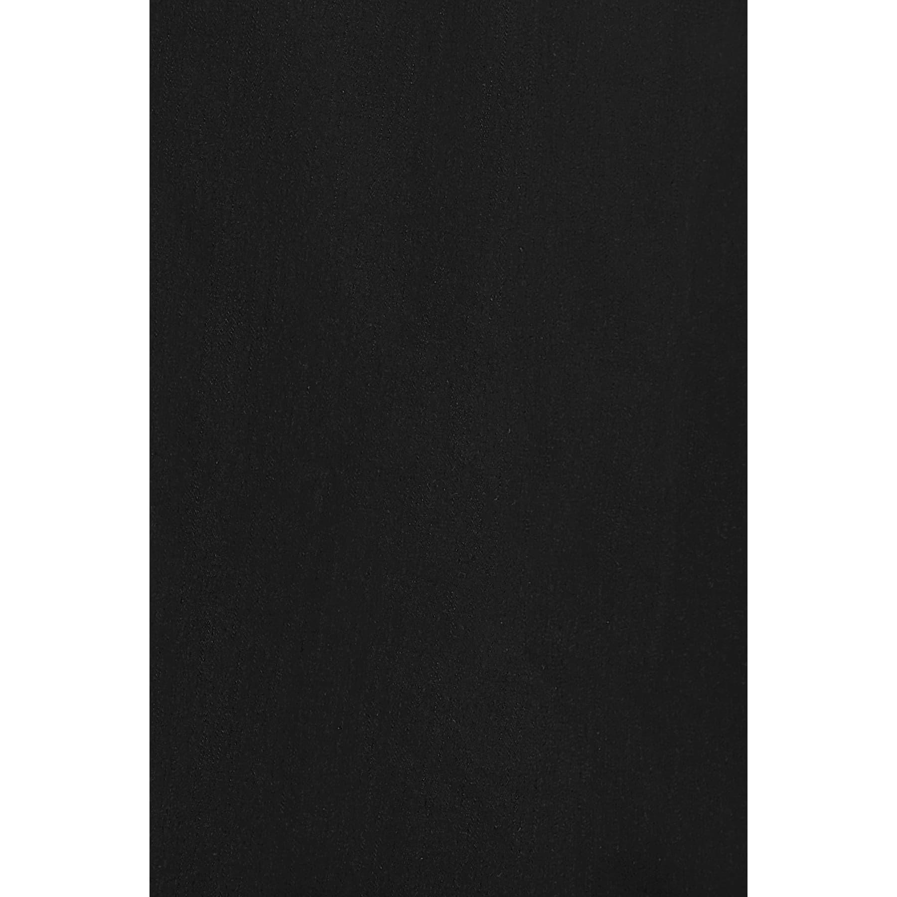 Çift Cepli Siyah Dar Kesim Erkek Gömlek