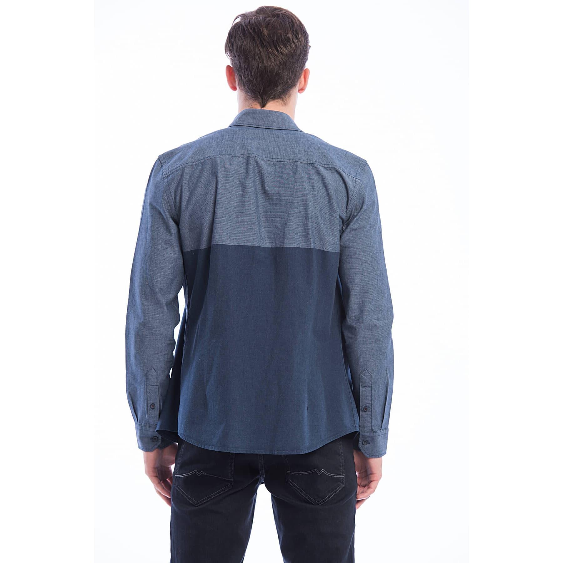 Uzun Kol Gömlek Vintage Indigo