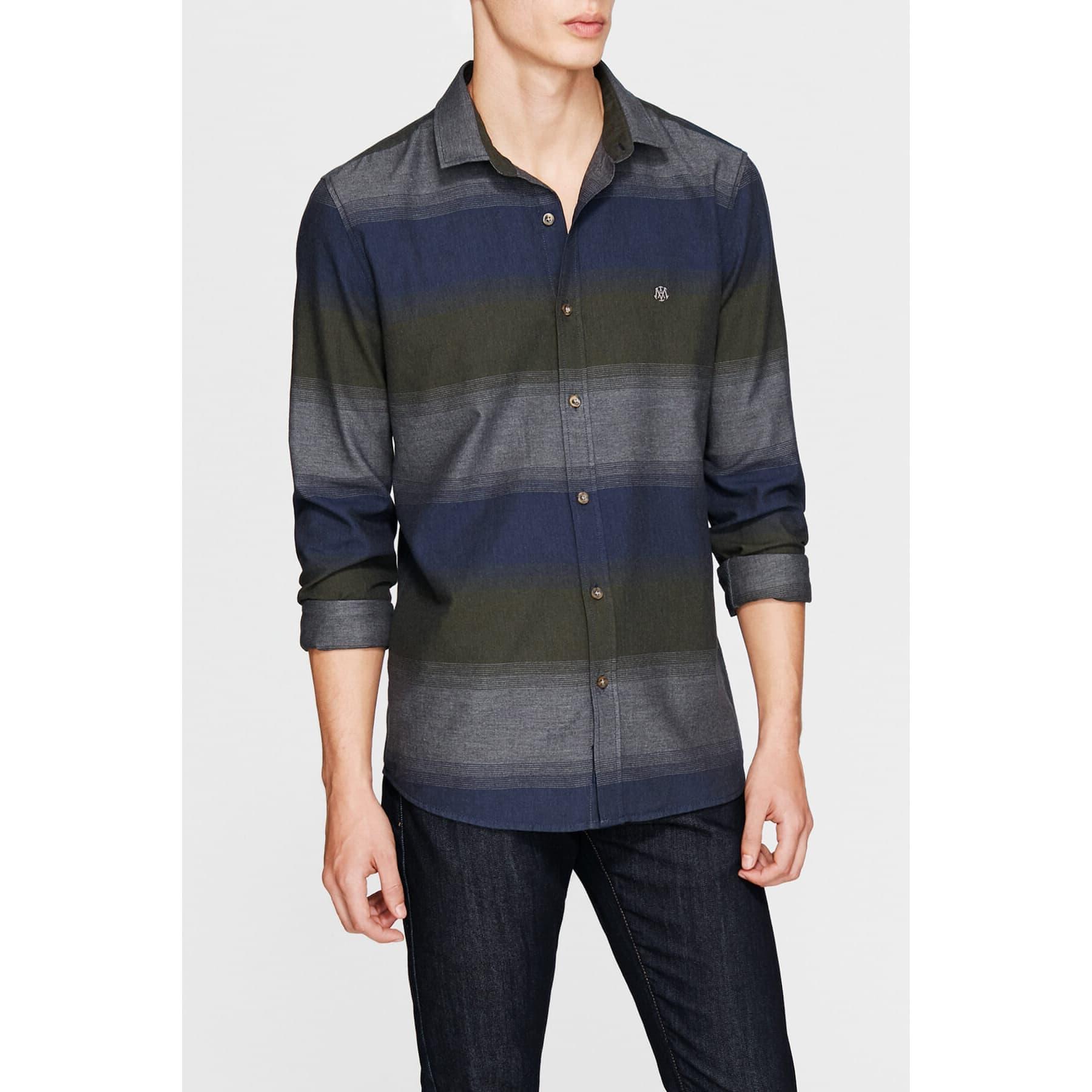 Stripe Shirt Deep Pine