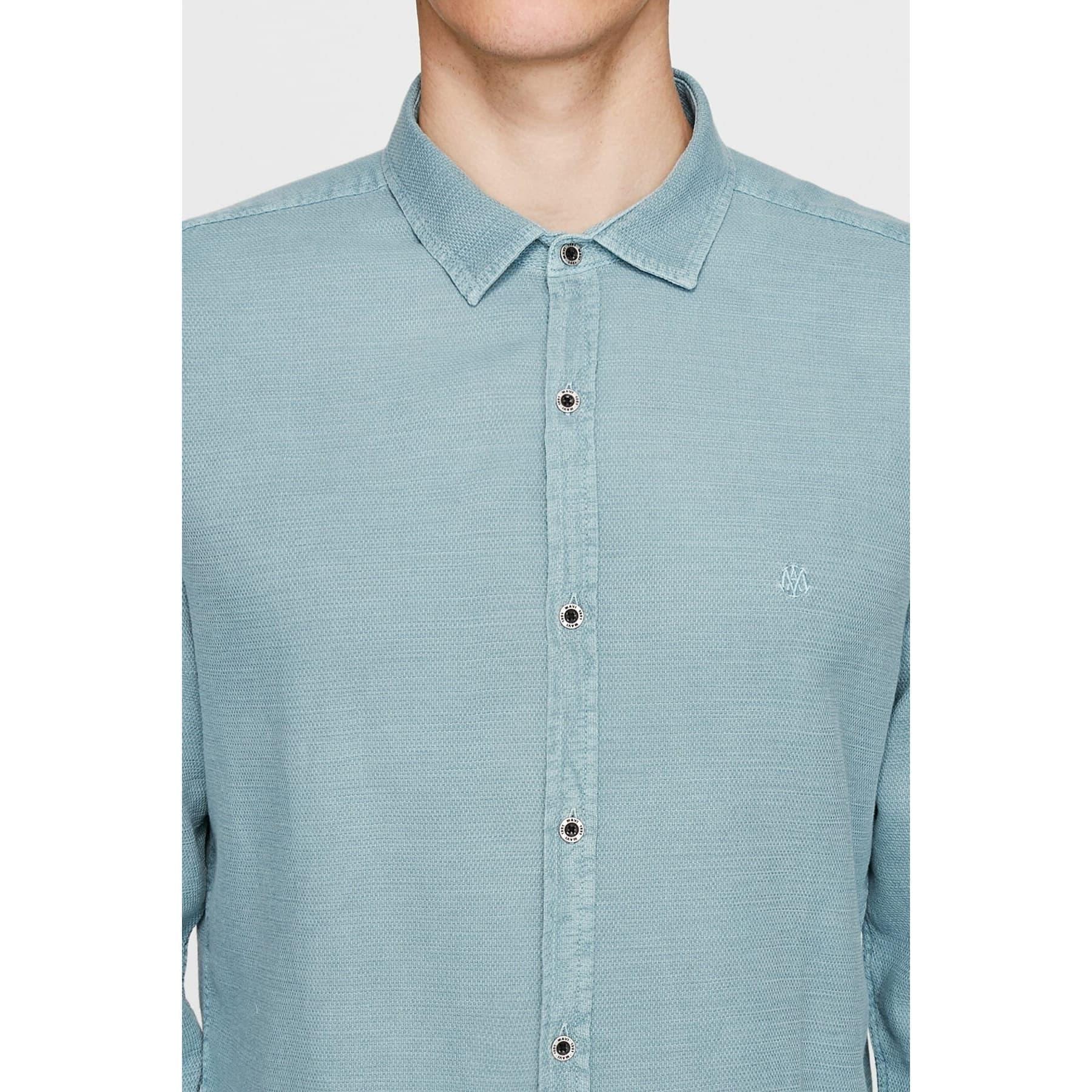 Uzun Kol Gömlek Göl Mavi