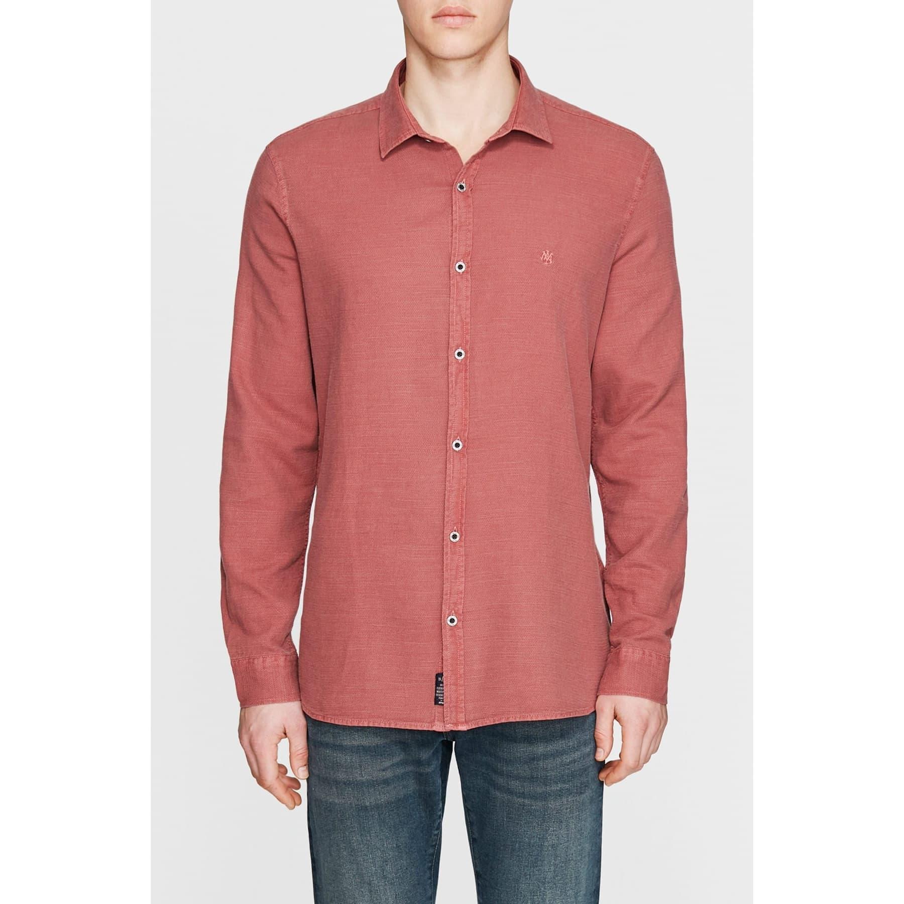 Uzun Kol Gömlek Yanık Kırmızı