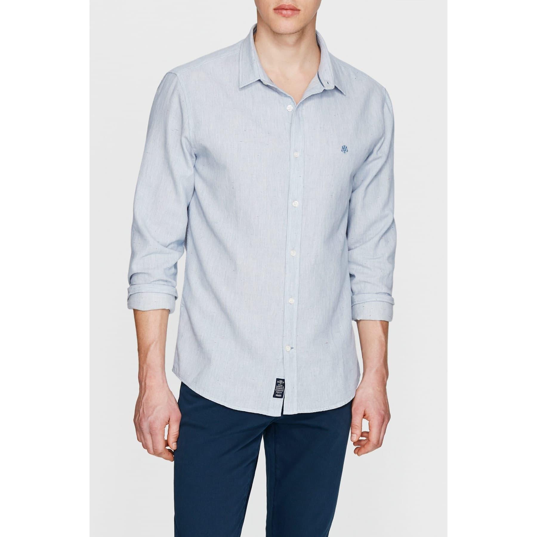Erkek Soft Mavi Uzun Kol Gömlek (021162-28419)