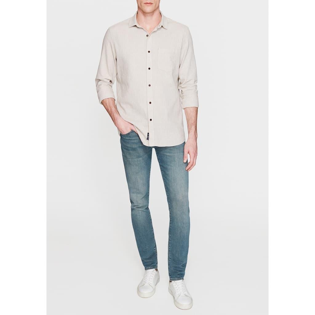 Mavi Jeans Erkek Keten Karışımlı Bej Gömlek