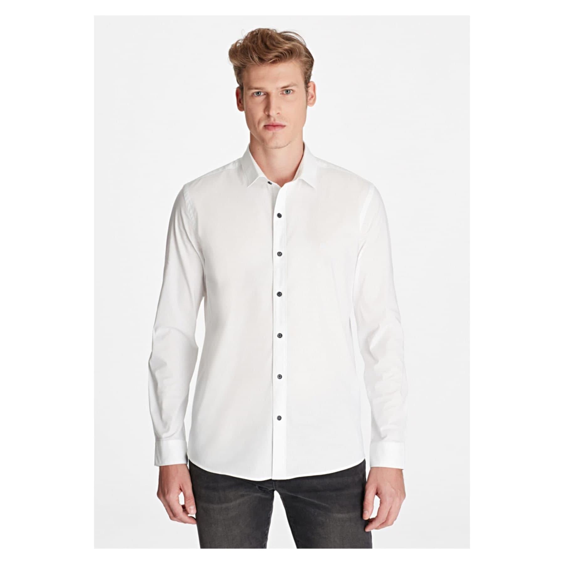 Mavi Jeans Uzun Kollu Erkek Beyaz Gömlek