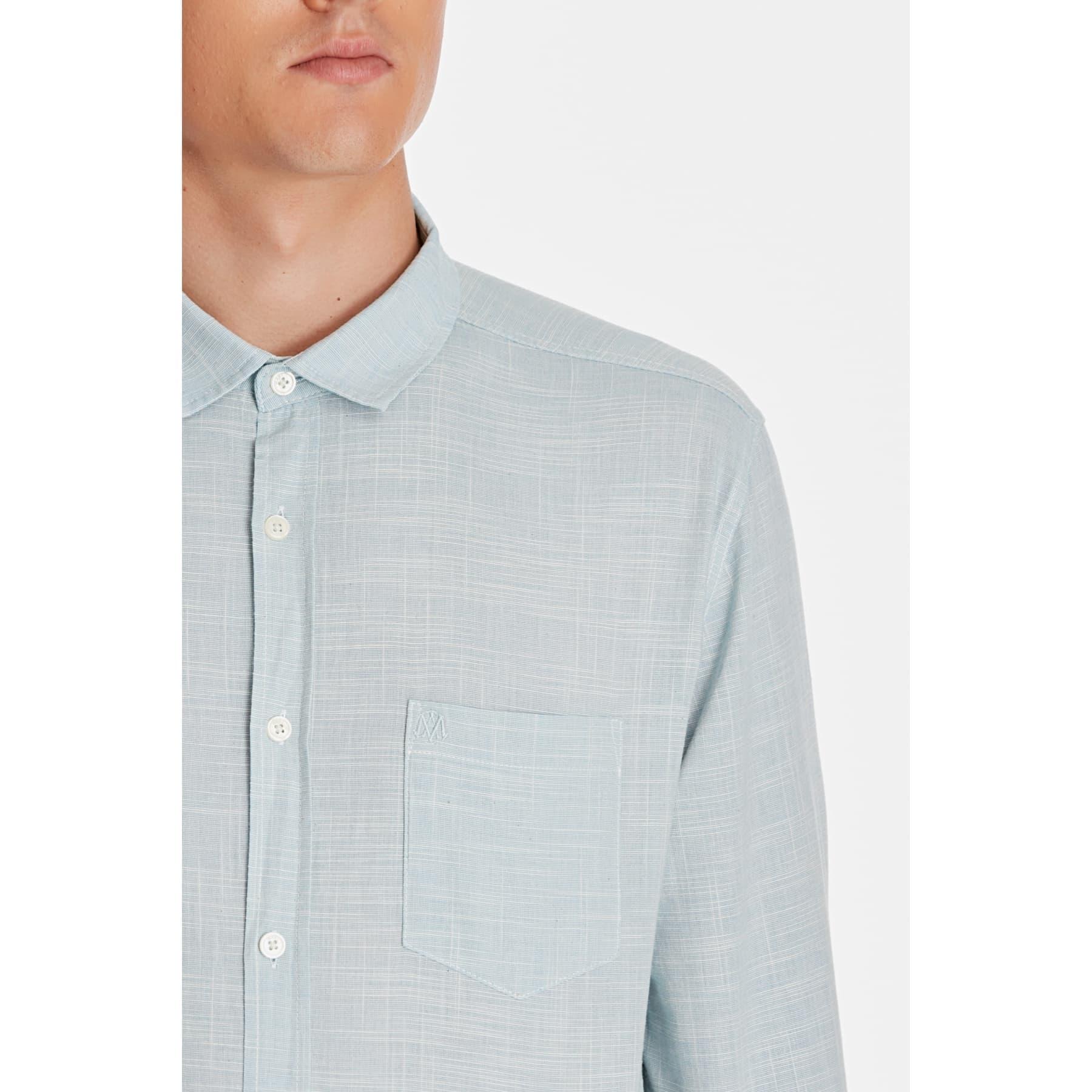 Tek Cep Gömlek Havacı Mavi