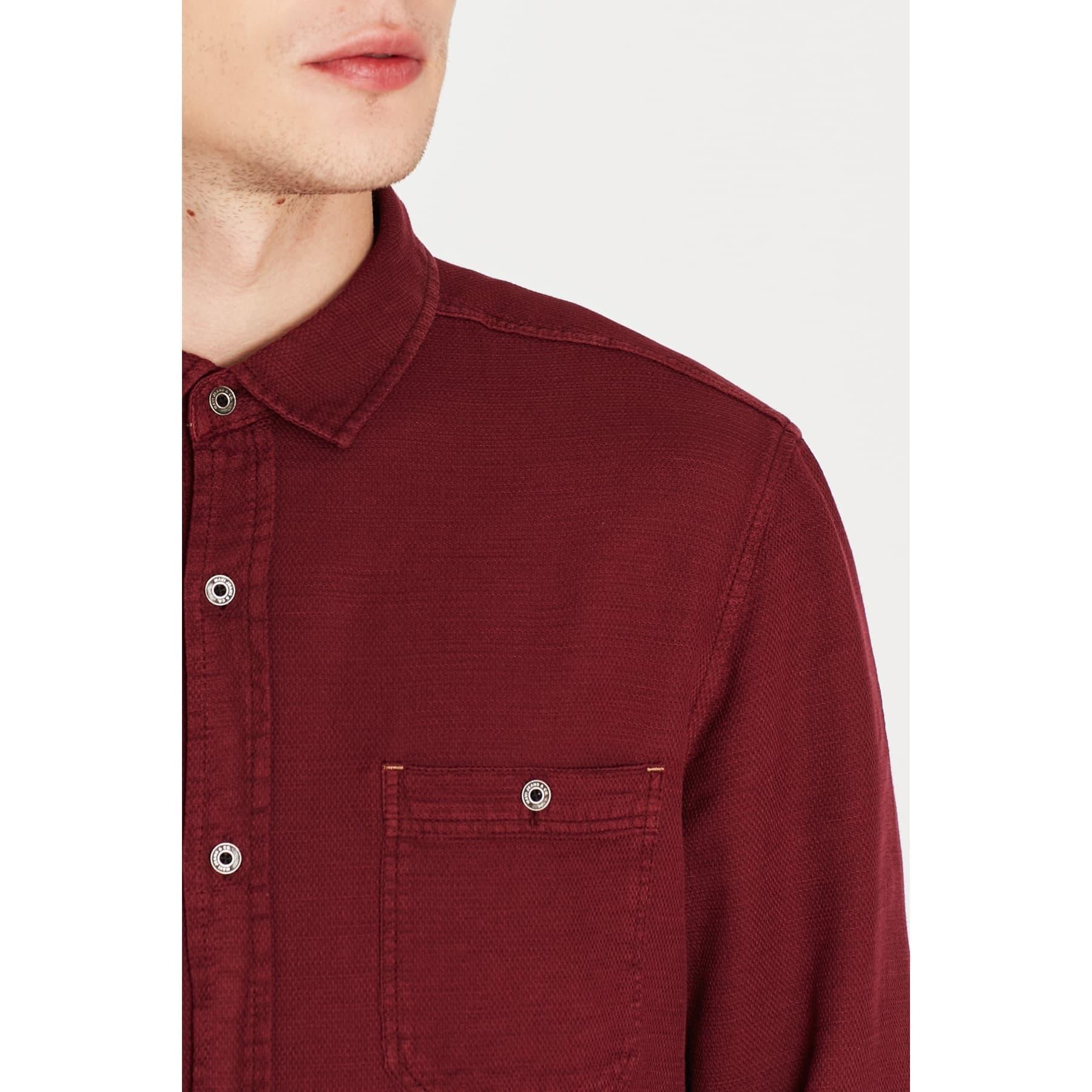 Tek Cepli Erkek Bordo Gömlek (021368-30214)