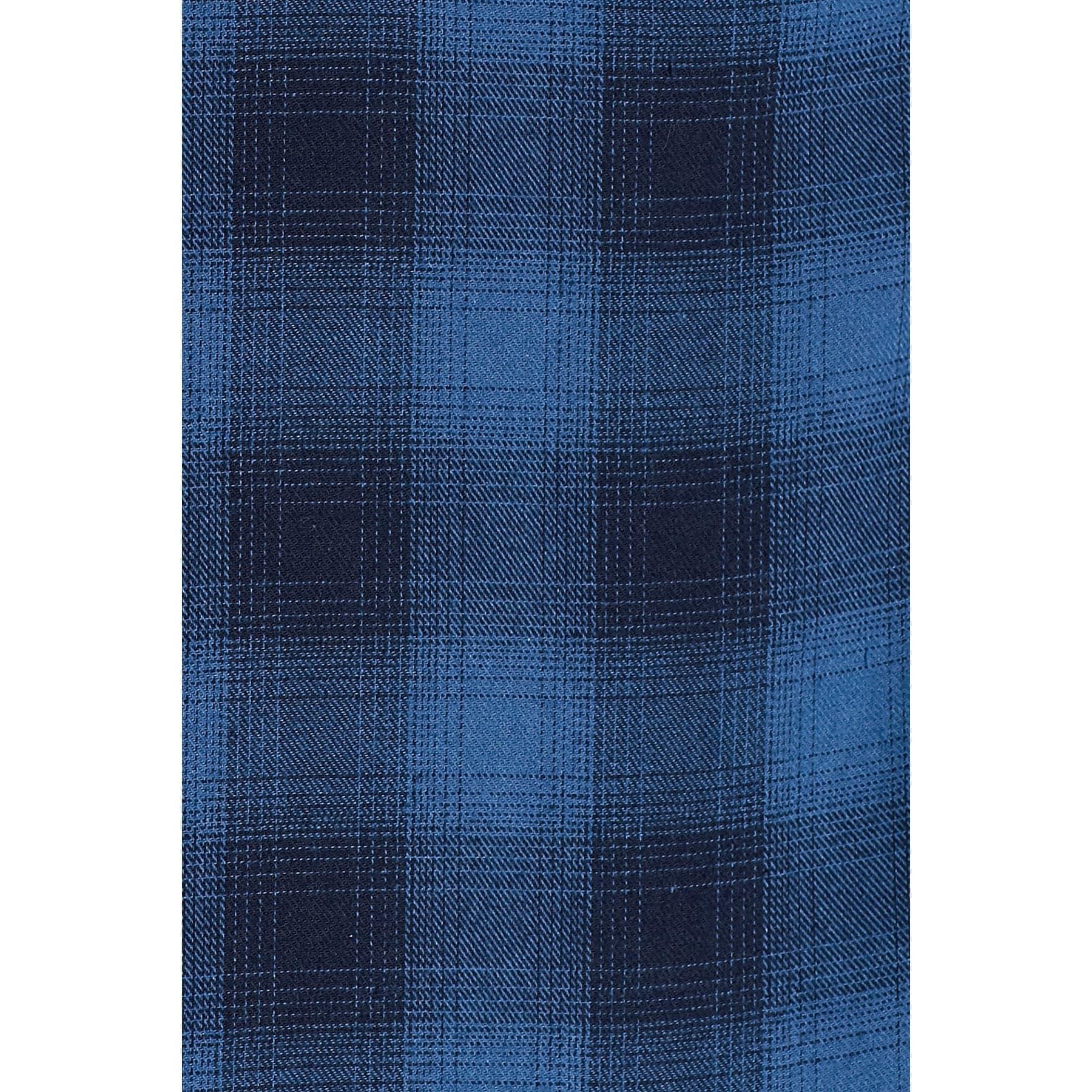 Kareli Gömlek Soluk Saks Mavi