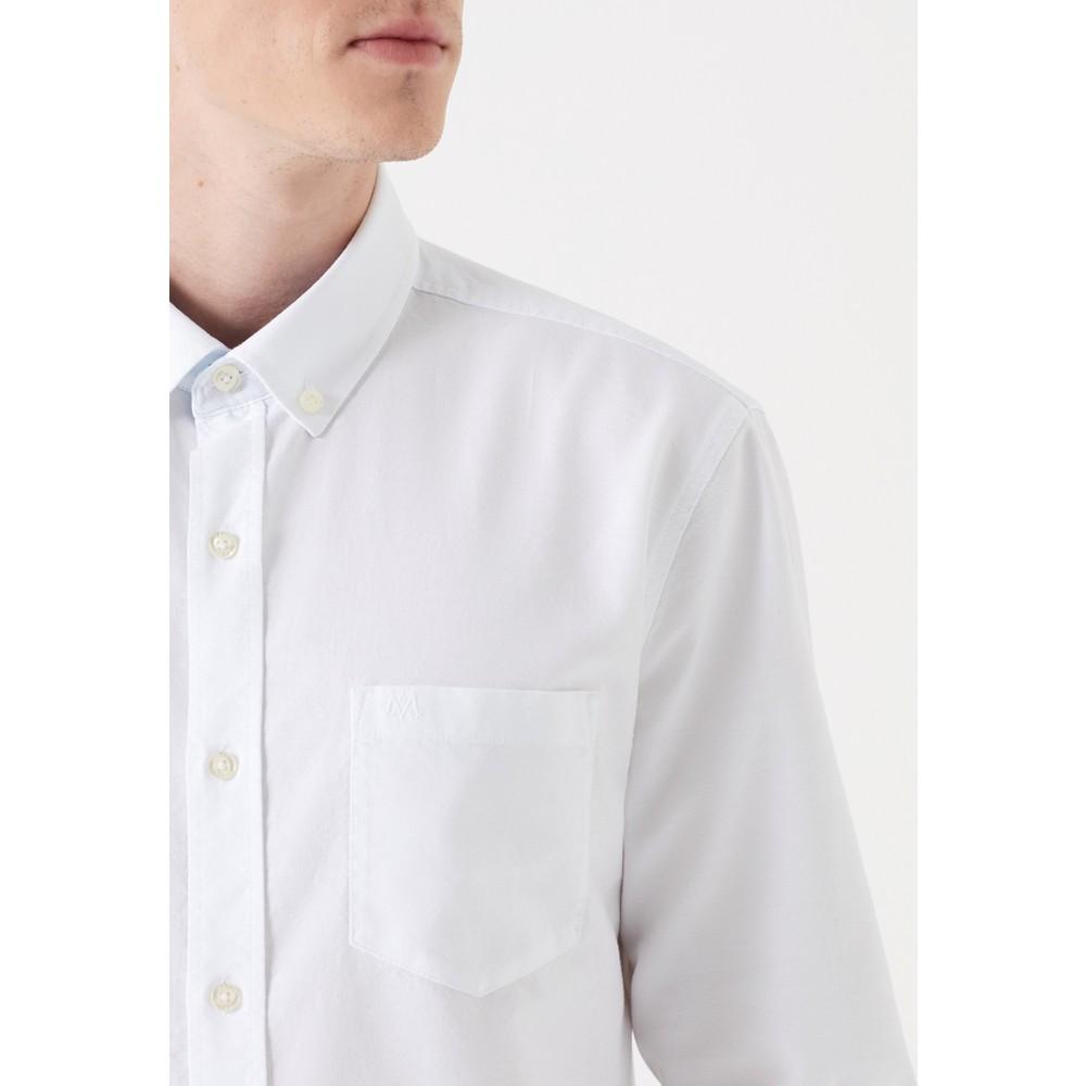 Mavi Jeans Tek Cepli Erkek Beyaz Gömlek