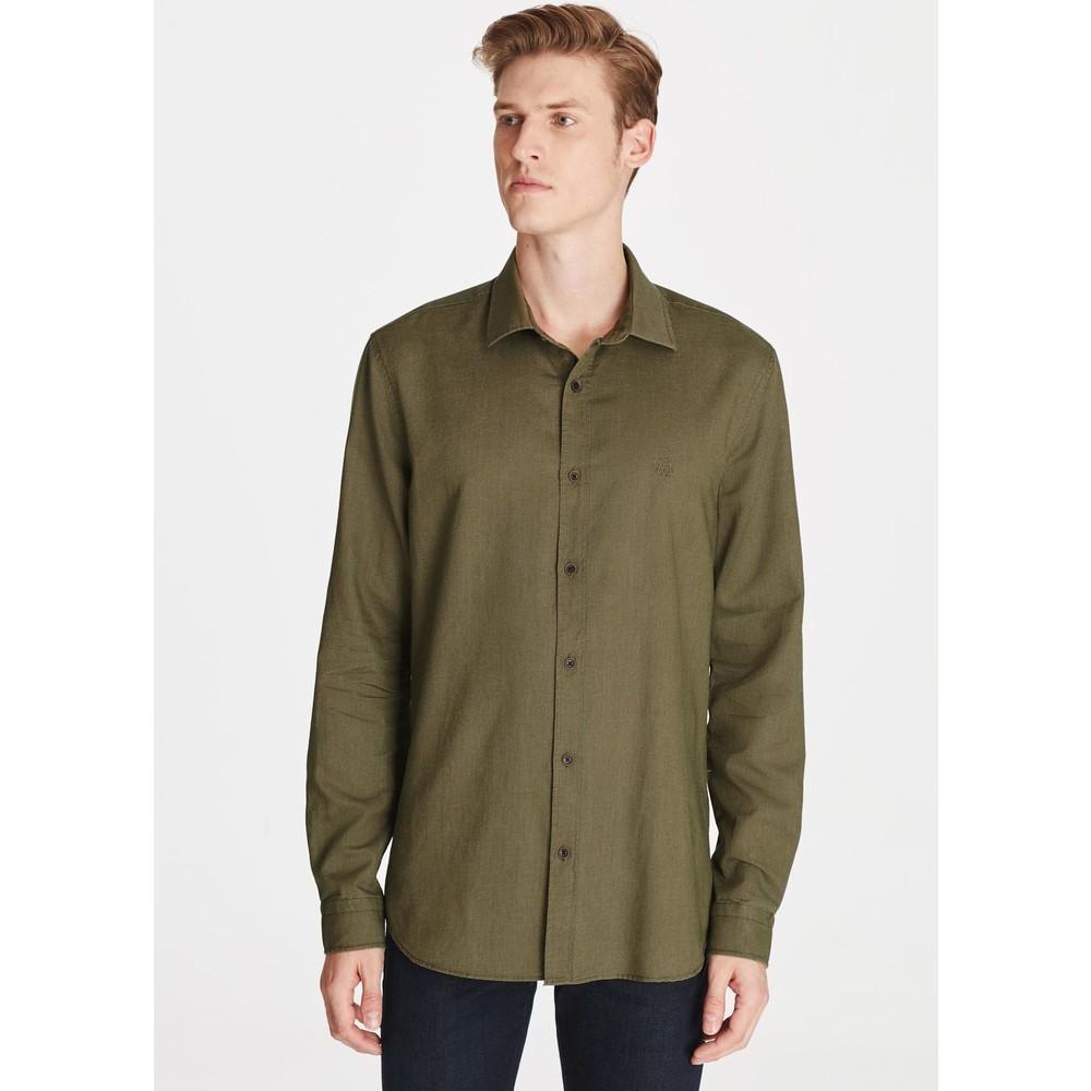 Uzun Kol Gömlek Asker Yeşili