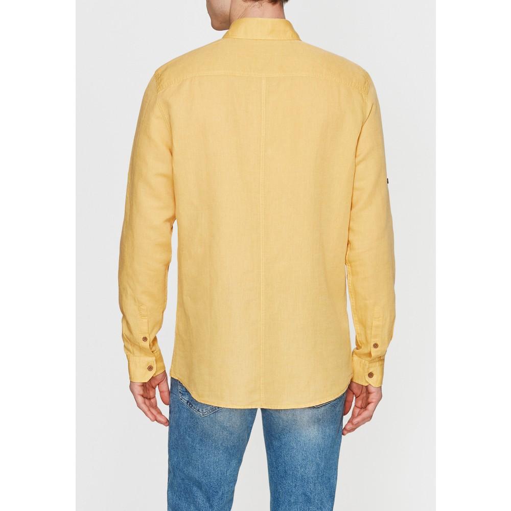 Mavi Jeans Erkek Çift Cepli Sarı Keten Gömlek