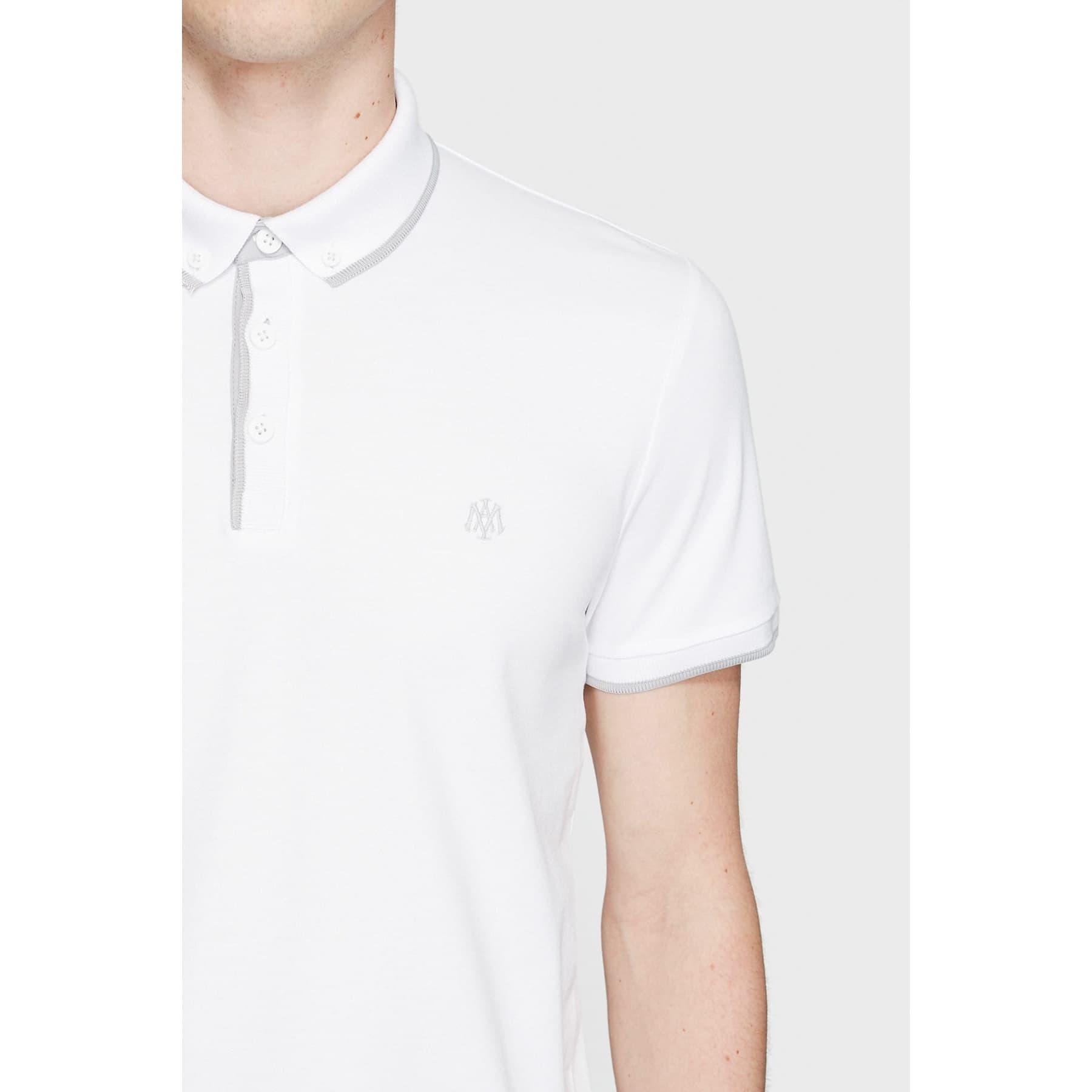 Mavi Jeans Dar Kesim Erkek Beyaz Polo Tişört